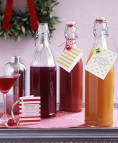 If you could find the bottles this would be fun to individualize for each person!