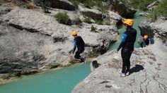 Saltos y Badinas. Cañón del Vero. Sierra de Guara. www.altopirineo.com