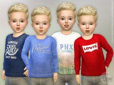 Designer Shirt for Toddler Boys P01 by lillka at TSR • Sims 4 Updates