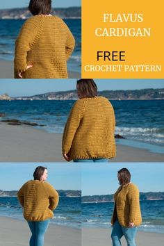 Free crochet cardigan pattern for women. Free top down cardigan crochet pattern with puff stitch details. Intermediate skill level crochet pattern. Jacket crochet pattern for her. Crochet apparel for women in size XS to 5XL. Plus size crochet. Perfect for your wardrobe all year through. #crocheted #crochetpattern #crochetcardigan #crocheting #freecrochet via @joyofmotion Crochet Yarn, Crochet Stitches, Free Crochet, Crochet Sweaters, Crochet Tops, Crochet Cardigan Pattern, Crochet Patterns, Crochet Ideas, Sweater Patterns