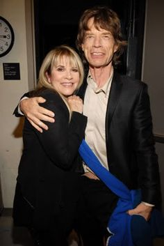Stevie Nicks Mick Jagger