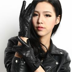 leather gloves on women pictures - Yahoo Image Search Results