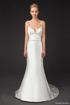 winnie couture bridal 2014 diamond label 3196 venita trumpet wedding dress embellished straps