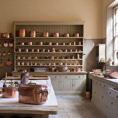 Beautiful and much admired dresser in the Attingham Park kitchens.