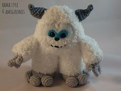 So cute this yeti! - by Marta Ruso - free pattern in Spanish