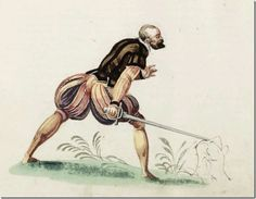 Stylish German Fencing Attire from the 16th Century From Meyer 1560