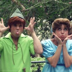 Peter Pan and Wendy Darling making some faces :)