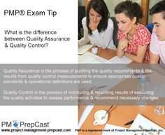 #PMP Exam Tip: What is the difference between Quality Assurance and Quality Control?