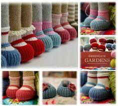 'Handmade Shoes' Free PDF knitting pattern......http://www.maryjanestearoom.com/p/free-patterns-projects.html