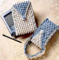 Cell Phone Case Crochet Pattern. Never could understand why people leave their cell phones laying around instead of carrying it around with them. Maybe this cute little case is what they need!