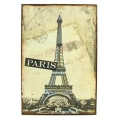 Tin Sign - Paris with Eiffel Tower