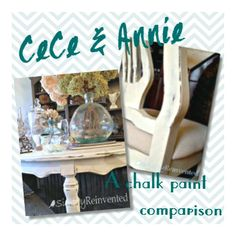 Great comparison of CeCe Caldwell and Annie Sloan's Chalk Paints