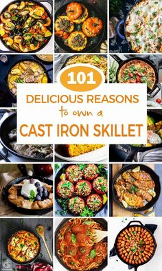 Discover 100 delicious reasons to own a cast iron skillet that will make your mouth water Easy main dishes sides desserts and Cast Iron Skillet Cooking, Iron Skillet Recipes, Cast Iron Recipes, Best Cast Iron Skillet, Skillet Dinners, Dutch Oven Cooking, Cooking Recipes, Milk Recipes, Cooking Tips
