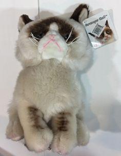 """NWT Gund Grumpy Cat Meme 9"""" Plush Stuffed Animal NEW 4040133 #GUND"""