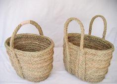 JUTE cesta bolso 2 asas esparto natural  esparto natural trabajo de esparto