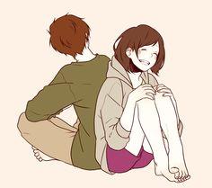 anime, manga, couple, monqkq