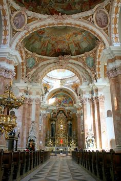 St Jakob Church in Innsbruck, Austria. I've been here! It's beautiful.
