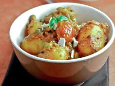 Coconut Potato Curry with Basil
