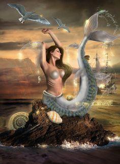 Mermaid by *MiloshJevremovic on deviantART