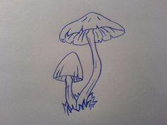 Simple Mushroom Tattoos Design