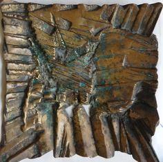 Maria Bonomi - Rara e Excepcional escultura em bronze maciço (pesa mais de 7 Kgs), sem título 26 cm