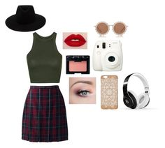 """City Girl"" by creepy-weird-chick ❤ liked on Polyvore featuring Topshop, Fuji, Lands' End, NARS Cosmetics, Beats by Dr. Dre, House of Holland, rag & bone, cute, chic and city"