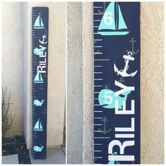 This is one of the most requested boards I do. Although as many times I've done this growth chart I've never had the same growth chart! Either a different color choice different combo of patterns around the numbers etc. I love doing custom! I love changing things up!!! Speaking of which...... I can't wait till I get a request to add RED to this board!!!!!  #tinytreasuresbyheather #growthchart #growthruler #growthcharts #playroomdecor #nurserydecor #kiddecor #kidstuff #nautical #ocean…