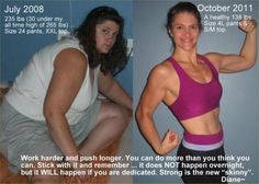 I love before and afters...they are so motivating