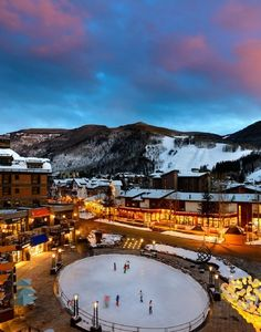 Vail, Colorado at winter ski, snowboard, ice skate, go tubing