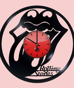 The Rolling Stones Handmade Vinyl Record Wall Clock Vinyl Record Projects, Old Vinyl Records, Vinyl Record Clock, Record Wall, Clock Wall, Breaking Bad, Rolling Stones Vinyl, Kiss Art, How To Make Wall Clock