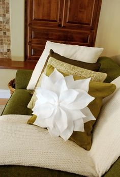 Pointsettia Pillow