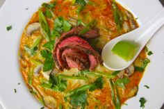 Thai Coconut Curry Soup with Grilled Flank Steak — Grillocracy