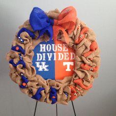 house divided burlap wreath