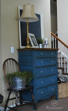 i adore this blue for furniture!