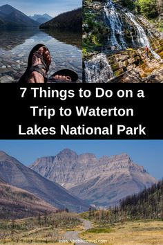7 Things to Do on a Trip to Waterton Lakes National Park - Hike Bike Travel Montana National Parks, Canada National Parks, Parks Canada, Waterton Park, Waterton Lakes National Park, Beautiful Places To Visit, Cool Places To Visit, Places To Travel, Travel Things
