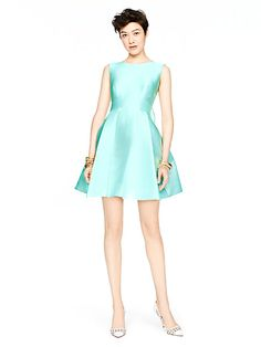 open back silk mini dress - kate spade new york