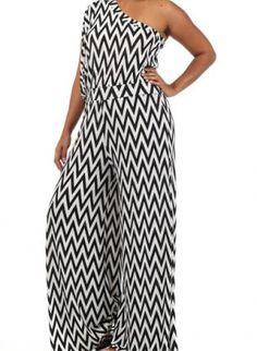 Laurel+Plus+Size+Zig+Zag+One+Shoulder+Plus+Size+Jumpsuit,+black++white++chich++jumpsuit++fitted,+Chic