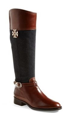 Two-Tone Riding Boots | Tory Burch