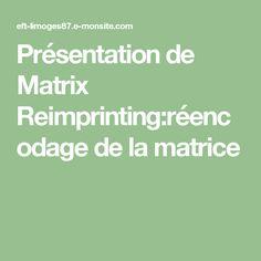 Présentation de Matrix Reimprinting:réencodage de la matrice