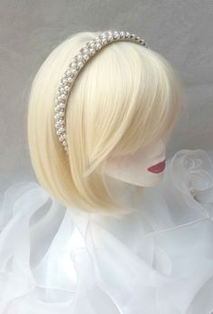 """Magnifique headband bandeau accessoire de cérémonie"""" Perles et Petits Strass"""""""" : Accessoires coiffure par ysabell"""