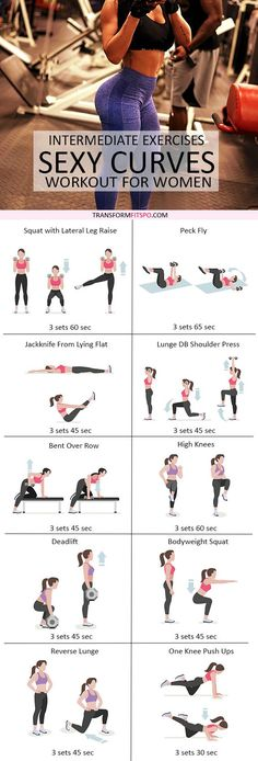 Repin and share if this workout got you in sexy shape! Read the post for all the workout descriptions.
