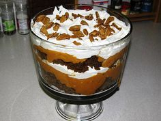 Paula Deen's Pumpkin Gingerbread Trifle..Great for Thanksgiving or a holiday celebration!