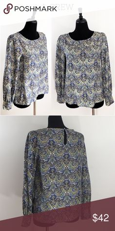 "🌟LIKE NEW🌟 J. CREW ""Talitha"" Silk Paisley Blouse Top has been gently worn but in perfect like new condition. The fabric content is 100% silk. J. Crew Tops Blouses"