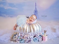 Photographer Takes Cute Pics Of Babies As Itty-Bitty Disney Princesses