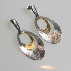 Golnar Jewelry - EARRINGS GOLD PLATED TWO TONE OVAL, $40.00 (http://www.golnarjewelry.com/copy-of-earrings-gold-plated-two-tone-leaf/)