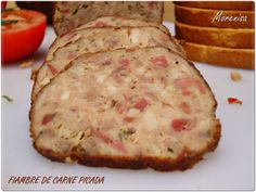LA COCINA DE MORENISA: Fiambre de Carne Picada Meat Recipes, Appetizer Recipes, Appetizers, Cooking Recipes, Recepies With Ground Beef, Salsa, Tasty Bites, Spanish Food, Charcuterie