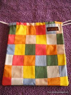 Doña Sol - Artesanía textil: Bolsas de patchwork  para merienda