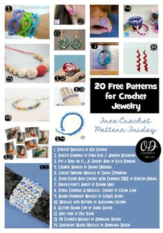 Looking for great DIY gift giving ideas? Make one of these free crochet jewelry patterns and give a personal gift to someone you care about!