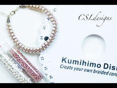Design With Me (DWM) elegant kumihimo braid speed video - YouTube