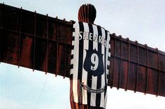Angel of The North . in Toon shirt! Newcastle United Wallpaper, Newcastle United Football, Newcastle England, North Shields, Sir Alex Ferguson, St James' Park, Angel Of The North, North East England, The World's Greatest
